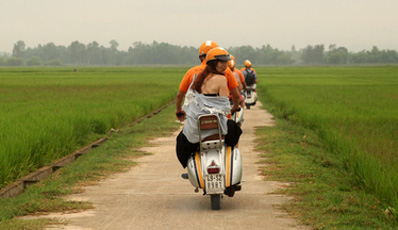 Vespa Tour Hanoi rural countryside