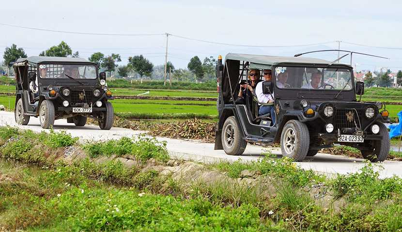 Explore Hoi An countryside with Jeep Car
