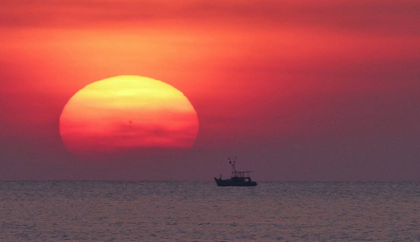 Sunset and night squid fishing in Phu Quoc Island
