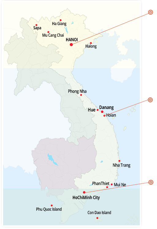 Map Vietnam Tours